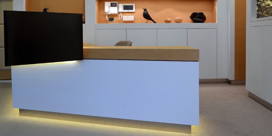 Detail of desk - office of a luxury company in Paris (France)
